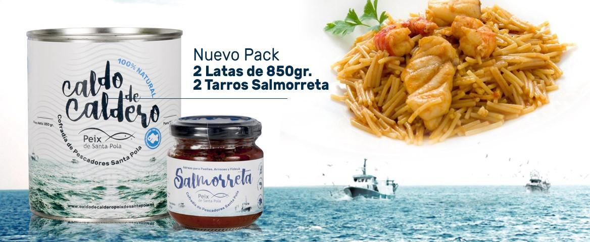 Nuevos Packs 850gr Caldo de Caldero y Salmorreta 100% Natural Peix de Santa Pola